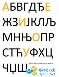 塞尔维亚语字母表