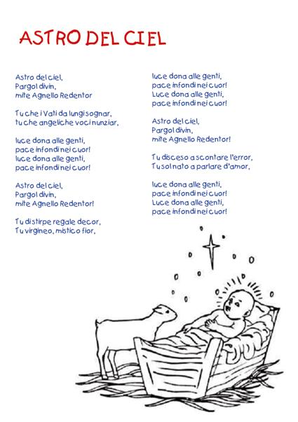 意大利语圣诞歌Astro del Ciel