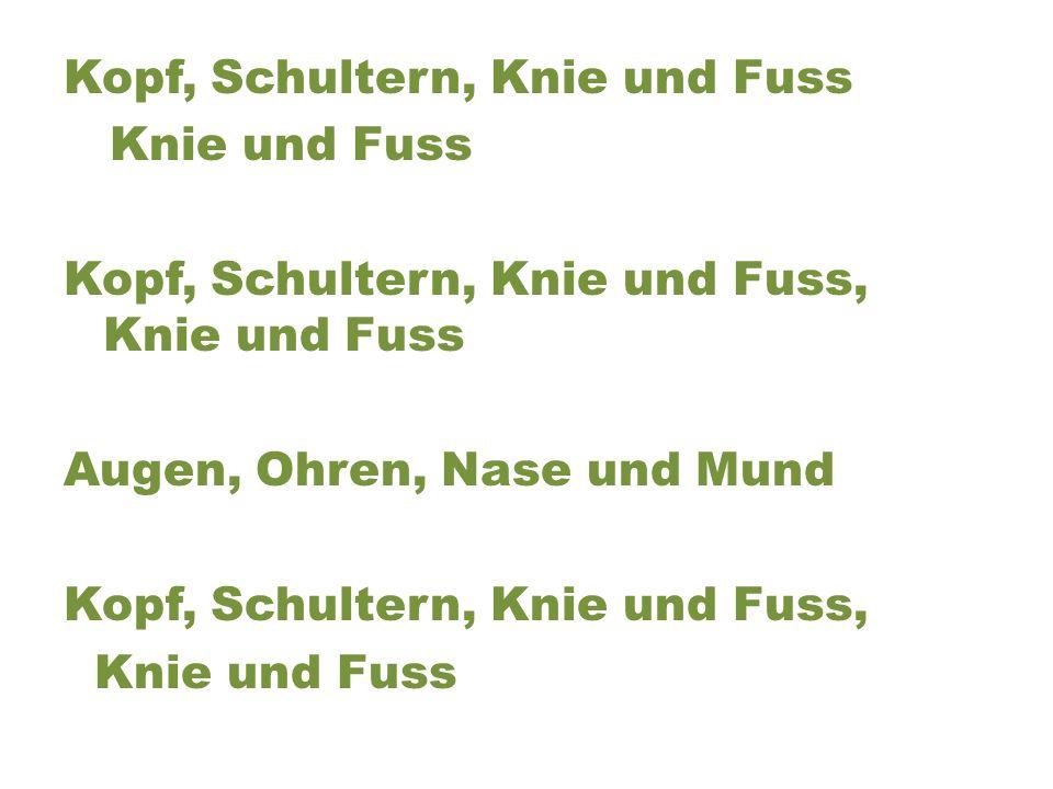 German Head and Shoulders Song