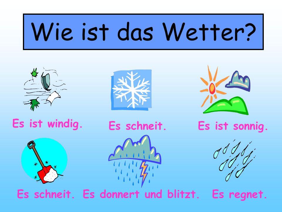 唱歌学德语单词:天气