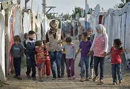 Walk for children in poor areas